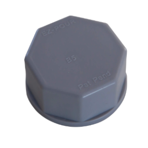 Solid Base Cap Grey fits Stancan, TeePee, Wedco cans