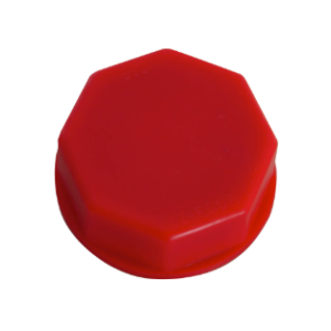 """Solid Base Cap Red  fits old metal cans with 1 3/4"""", 1 1/2"""" and 1 7/16"""" openings"""