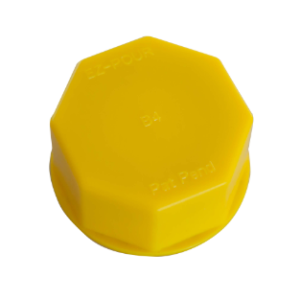Solid Base Cap Yellow fits Midwest, Eagle, Igloo, Scepter cans